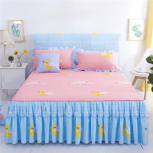 Load image into Gallery viewer, Romantic Bed Skirt Non-slip Fitted Sheet Cover Bedspread Chiffon Bed Sheet for Wedding Decoration Bed Cover with Elastic Band