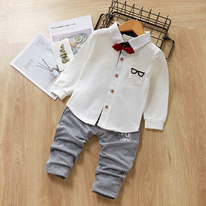 Bear Leader Boys Clothing Set New Spring Party Suit Baby Cartoon Sets Long Sleeve Shirt+Pants Kids Boy Clothes Children Set 2ps