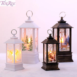 FENGRISE LED Christmas Tree Decoration House Style Fairy Light Christmas Light Garland New Year Christmas Decorations for Home