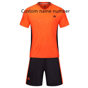 Men Child Soccer Jerseys Set Football Uniforms Training futbol maillot de foot voetbal tenue kids 2019 voetbalshirts Custom