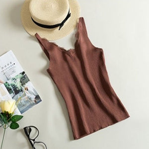 Women's clothing shirt tops lace woman Vest V-neck Sexy Autumn winter bottoming shirt Slim 2019 hot korean fashion clothing