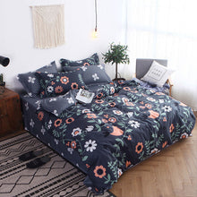 Load image into Gallery viewer, Gray 4pcs Girl Boy Kid Bed Cover Set Cartoon Duvet Cover Adult Child Bed Sheets And Pillowcases Comforter Bedding Set 2TJ-61005