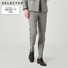 Load image into Gallery viewer, SELECTED Cotton-blend Grey Slim Fit Suit Pants S|419218514