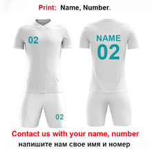Load image into Gallery viewer, Boys Football Uniform Kids Personalized Football Jersey Soccer Jerseys Set Custom Soccer Uniform Survetement NEW Sport suit set