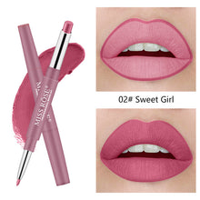 Load image into Gallery viewer, Matte Lipstick Lip Pencils Waterproof Matte Lipstick Lip Liner Pen Pigments Moisturizer Matte Lipliner Pencil Beauty Tools