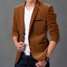 Load image into Gallery viewer, New Arrival Luxury Men Blazer New Spring Fashion Brand High Quality Cotton Slim Fit Men Suit Terno Masculino Blazers Men
