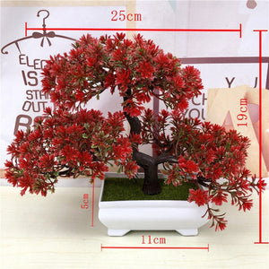 Artificial Green Plants Bonsai Simulation Plastic Small Tree Pot Plant Potted Ornaments For Home Table Garden Decoration 52841