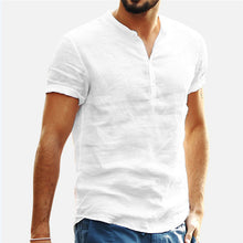 Load image into Gallery viewer, Shirt Men Casual Short Sleeved Buttons Up Breathes Cool Shirt Loose Streetwear Male Shirts For Men