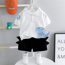 Load image into Gallery viewer, HYLKIDHUOSE Baby Boys Clothing Sets 2020 Summer Toddler Infant Short Sleeve Dinosaur Lapel T Shirt Shorts Children Clothes