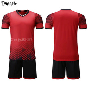 Adult Football-Jerseys Boys girl Shirt Customize Kids Soccer Jerseys Sets Training Suit Printing Short Seelve Sport Clothing
