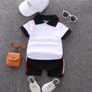 Baby Boys Clothing Set Summer Tops Shorts Cotton Children Kids Sport Suit 1st Birthday Costume Toddler Boys Formal Clothes Sets