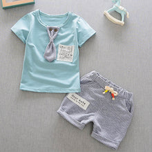 Load image into Gallery viewer, Baby Boys Clothing Set Summer Tops Shorts Cotton Children Kids Sport Suit 1st Birthday Costume Toddler Boys Formal Clothes Sets