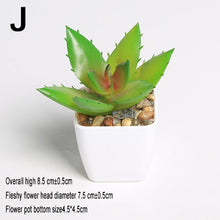 Load image into Gallery viewer, Mini Vivid Cactus Succulent Home Garden Decoration Artificial Bonsai Plant with Vase for Office Table Decor Indoor Fake Plants