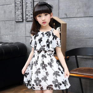 Flower Girl Dresses 2020 Summer Chiffon Kids Dresses Floral Children Clothing Princess Party Dress for Girls Clothes Vestidos