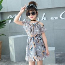 Load image into Gallery viewer, Flower Girl Dresses 2020 Summer Chiffon Kids Dresses Floral Children Clothing Princess Party Dress for Girls Clothes Vestidos
