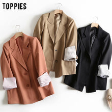 Load image into Gallery viewer, 2020 spring suit jacket women blazer korean fashion ladies work jacket solid color button blazer