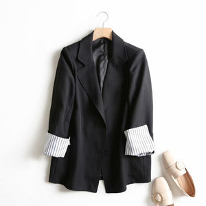 2020 spring suit jacket women blazer korean fashion ladies work jacket solid color button blazer