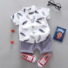 Load image into Gallery viewer, Boy Clothing Casual  Baby Girl's Summer Clothes   Set Sports shirt+ Shorts Suits  Clothes Cotton products Kids clothes