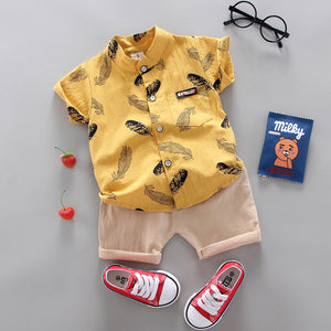 Boy Clothing Casual  Baby Girl's Summer Clothes   Set Sports shirt+ Shorts Suits  Clothes Cotton products Kids clothes