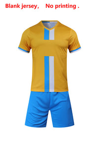 2020 Adult Children Football Jerseys Boys girls Soccer Clothes Sets Short sleeve Kids training Uniforms Tracksuit Can customized