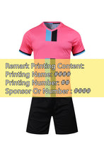 Load image into Gallery viewer, 2020 Adult Children Football Jerseys Boys girls Soccer Clothes Sets Short sleeve Kids training Uniforms Tracksuit Can customized