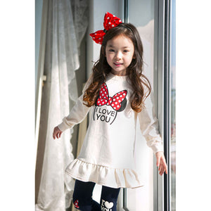 Minnie Mickey Pattern Girls Clothing Sets For Girls Clothes Suits 2019 Cartoon Tops+Pants 2Pcs Costume Children Clothing Suits