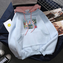 Load image into Gallery viewer, Hoodies Women Thicker Letter Velvet Warm Pullover Winter Coat Drawstring Harajuku Sweatshirt Pink Womens Korean New High Quality