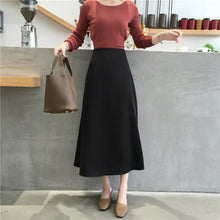 Load image into Gallery viewer, Women elegant OL Skirt Ladies Glossy Satin Skirt Plain Shiny  Fashion Party Office Skirts Solid  High Waist Skirts