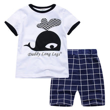 Load image into Gallery viewer, toddler boy summer clothes boys clothing set masha bear tracksuit 2019 short sleeve suit two piece children 1th birthday outfits