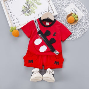 New Summer Baby Clothes Suit Children Fashion Boys Girls Cartoon T Shirt Shorts 2Pcs/set Toddler Casual Clothing Kids Tracksuits