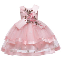 Load image into Gallery viewer, 2020 Lace Sequins Formal Evening Wedding Gown Tutu Princess Dress Flower Girls Children Clothing Kids Party For Girl Clothes