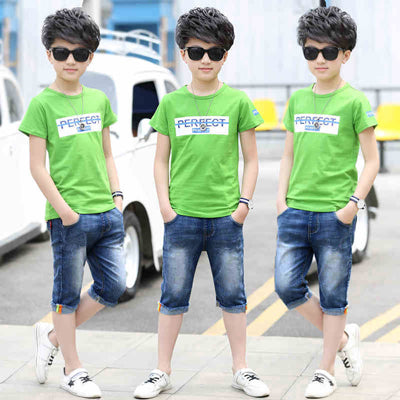 Sport Suits Teenage Summer Boys Clothing Sets Short Sleeve T Shirt & Pants Casual 3 4 5 6 7 8 9 10 12 13 Years Child Boy Clothes