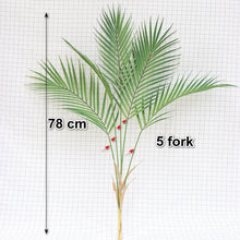 Load image into Gallery viewer, 88 CM Green Artificial Palm Leaf Plastic Plants Garden Home Decorations Scutellaria Tropical Tree Fake Plants