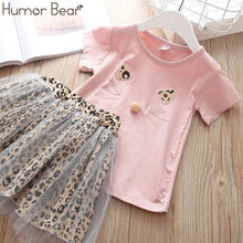 Load image into Gallery viewer, Humor Bear Girls Clothing Set Pearl Girls Clothes Set Lovely Long Eyelashes Toddler Girl tops + Pants Girls Suit Kids Clothes
