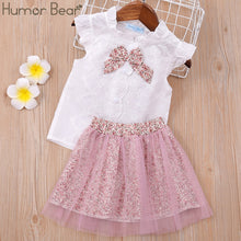 Load image into Gallery viewer, Humor Bear Girls clothes Girls Sets Summer Set 2020 Kids Clothes Girls Clothing Sets Two-Piece Kids Suit children clothing
