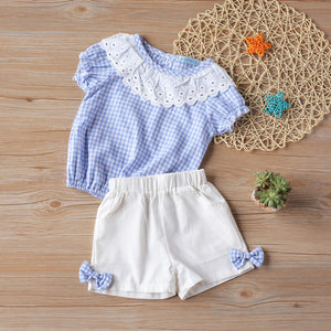 Humor Bear Girls clothes Girls Sets Summer Set 2020 Kids Clothes Girls Clothing Sets Two-Piece Kids Suit children clothing