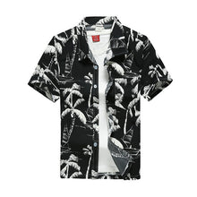 Load image into Gallery viewer, 2019 Fashion Mens Short Sleeve Hawaiian Shirt Fast drying Plus Size Asian Size M-5XL Summer Casual Floral Beach Shirts For Men