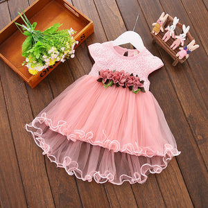 2020 Multi-style Super Cute Baby Girls Summer Floral Dress Princess Party Tulle Flower Dresses 0-3Y Clothing