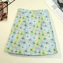 Load image into Gallery viewer, Summer female beach boho sexy mini skirt female 2019 womens Casual floral Printed  ruffles hem High-Waist Skirt skirts for women