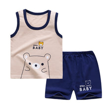 Load image into Gallery viewer, 2020 New Kids Clothes Toddler Boys Cartoon Outfits Baby Girls Summer Tees Suits 0-6 Years Children Clothing T-shirt + Shorts