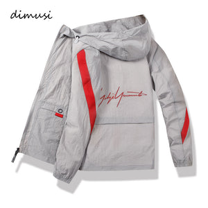 DIMUSI Men's Polit Bomber Jackets Casual Male Outwear Thin Breathable Coats Summer Mens Sunscreen Slim Fit Jackets Clothing