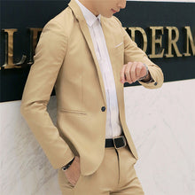 Load image into Gallery viewer, NaranjaSabor New Men's High Quality Blazer Spring Autumn Fashion Suit Coats Men Slim Fit Casual Jackets Male Brand Clothing N617