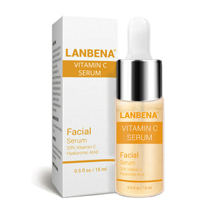 LANBENA Vitamin C Face Serum Whitening Skin Care Makeup Base Essence Firming Eye Patches Facial Cream Improving Dull Freckle