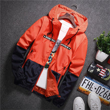 Load image into Gallery viewer, NaranjaSabor 2020 Men's New Jacket Colorful Spring Autumn Jacket Men's Patchwork Hood Coat Slim Fit Brand Clothing S~4XL N568