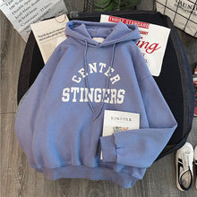 Load image into Gallery viewer, Large Size Hoodies Women Leisure Letter Printed Long Sleeve Hooded Womens Pullover Soft Cotton Korean Style Ladies Sweatshirts