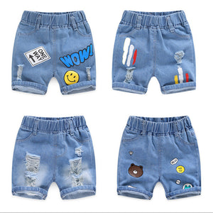 Baby Boy Shorts Jeans 2020 Summer Boys Printing Denim Cotton Casual Kids Short Pants For Children Trousers 2-8Years Clothing