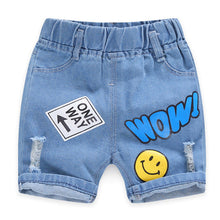 Load image into Gallery viewer, Baby Boy Shorts Jeans 2020 Summer Boys Printing Denim Cotton Casual Kids Short Pants For Children Trousers 2-8Years Clothing