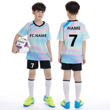 Load image into Gallery viewer, 2019New Youngster Children Football Jerseys Boys girls Soccer Clothes Sets Kids Match training Uniforms Tracksuit Can customized