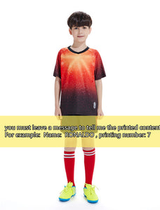 2019New Youngster Children Football Jerseys Boys girls Soccer Clothes Sets Kids Match training Uniforms Tracksuit Can customized