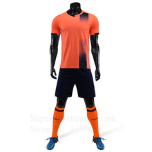 Load image into Gallery viewer, Children Fitness Football Jerseys Training T-shirt Shorts Sport Suit Kids Basketball Soccer Sportswear Tracksuit Run Jogging Set